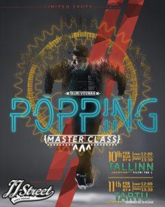 Popping Masterclass Jaanuar 2018